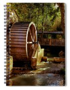 Old Mill Park Wheel Spiral Notebook