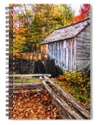 old mill Smoky Mountains Spiral Notebook