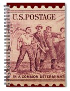Old Nra Postage Stamp Spiral Notebook