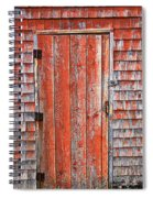 Old Orange Door  Spiral Notebook
