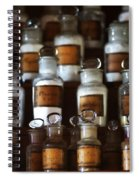 old pharmacy 2 - Old glass bottle with medicine powder of xviii century Spiral Notebook