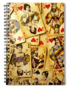 Old Playing Cards Spiral Notebook