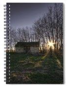Old Prairie Homestead At Sunset Spiral Notebook