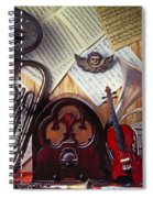 Old Radio And Music Instruments Spiral Notebook