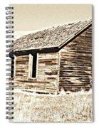 Old Ranch Hand Cabin L Spiral Notebook