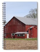 Old Red Barn With Short Silo Spiral Notebook