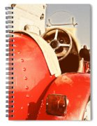 old Red Race Car Spiral Notebook