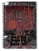 Old Red Train Spiral Notebook
