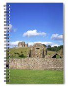 Old Ruins Of An Abbey With A Castle In Spiral Notebook