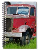 Old Rusted Semi-truck  Spiral Notebook
