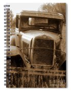 Old Rustic Ford-sepia Spiral Notebook