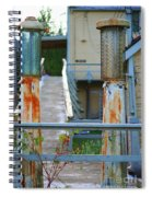 Old Rustic Gas Pumps Spiral Notebook