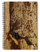 Old Rusty Door Spiral Notebook