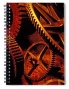 Old Rusty Gears Spiral Notebook