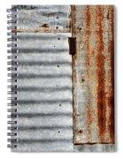 Old Rusty Sheet Metal Spiral Notebook