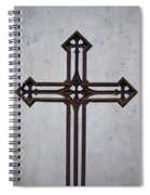 Old Rusty Vintage Cross Spiral Notebook