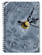 Old Silver Clock Spiral Notebook
