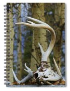 Old Skull And Antlers Spiral Notebook