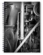 Old Steam Spiral Notebook