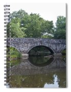 Old Sumneytown Pike Bridge Over The Perkiomen Creek Spiral Notebook