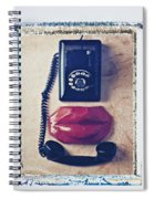 Old Telephone And Red Lips Spiral Notebook
