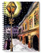 Old Time Evening Spiral Notebook