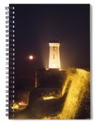 Old Tower And Moon Spiral Notebook