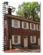 Old Town Philadelphia Brownstone House Spiral Notebook
