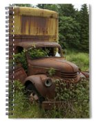 Old Truck In Rain Forest  Spiral Notebook
