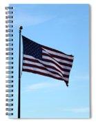 Old Usa Flag Spiral Notebook