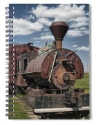 Old Vintage 1880's Railroad Train No.0394 Spiral Notebook
