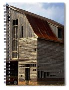 Old Wagon Older Barn Different View Spiral Notebook