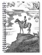 Old-west-art-cowboy Spiral Notebook