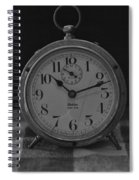 Old Westclock In Black And White Spiral Notebook