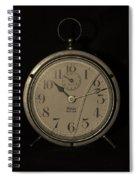 Old Westclock In Sepia Spiral Notebook
