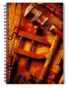 Old Worn Tools Spiral Notebook