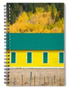 Old Yellow School House With Autumn Colors Spiral Notebook