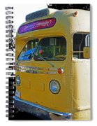 Old Yellow Transit Bus Abstract Spiral Notebook