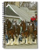 Olde Tyme Travel Clydesdales Spiral Notebook