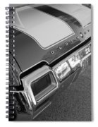 Olds Cs In Black And White Spiral Notebook