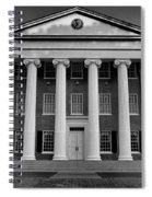 Ole Miss Lyceum Black And White Spiral Notebook