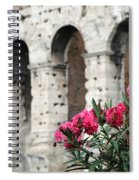 Oleander And Colosseum Spiral Notebook
