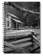 Oliver's Cabin In The Great Smokey Mountains Spiral Notebook