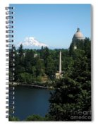 Olympia Wa Capitol And Mt Rainier Spiral Notebook