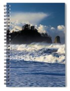 Olympic Ocean Swirls Spiral Notebook