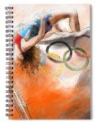 Olympics High Jump Gold Medal Ivan Ukhov Spiral Notebook