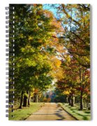 On A Country Road Spiral Notebook