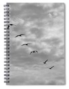 On A Mission - Black And White Spiral Notebook