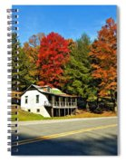 On A West Virginia Road Painted Spiral Notebook