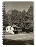 On A West Virginia Road Sepia Spiral Notebook
